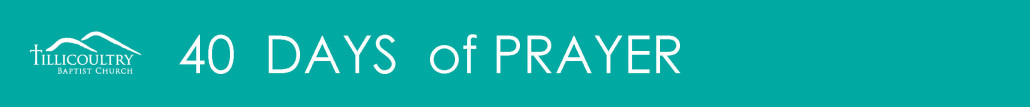 Banner 40 days of Prayer